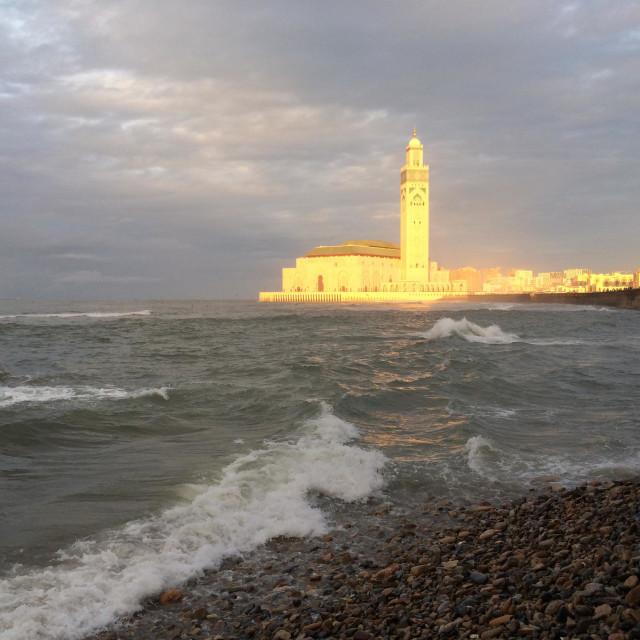 """Hassan II mosque , Casablanca, Morocco"" stock image"
