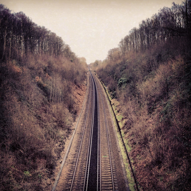 """Railway Tracks"" stock image"