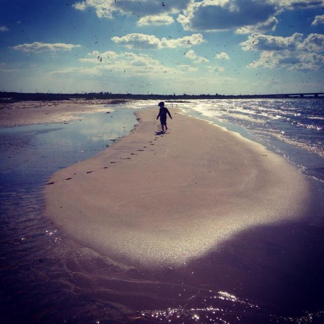 """""""Sandbar, Hamptons, NY"""" stock image"""