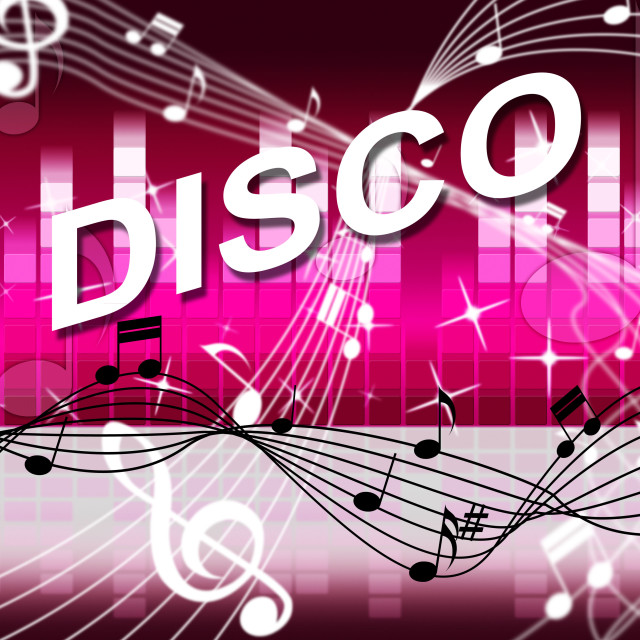 """""""Music Disco Shows Sound Track And Audio"""" stock image"""