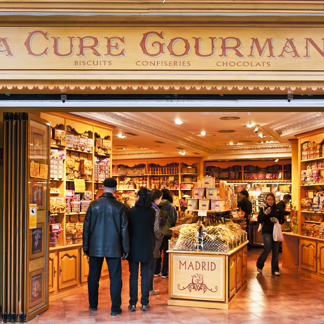 """La Cure Gourmande, Madrid, Spain"" stock image"
