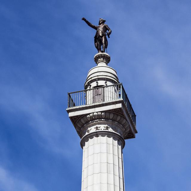"""Trenton Battle Monument, American Revolutionary War, Trenton, New Jersey"" stock image"
