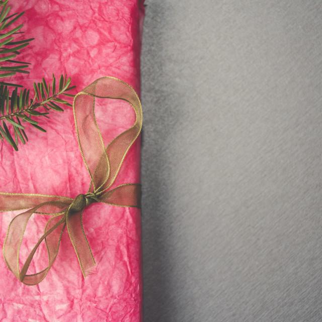 """""""Pink Christmas gift"""" stock image"""
