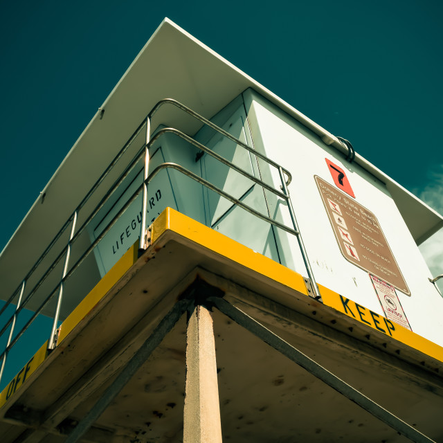 """Lifeguard Tower #7"" stock image"