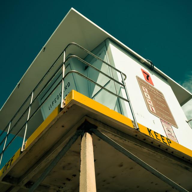 """""""Lifeguard Tower #7"""" stock image"""