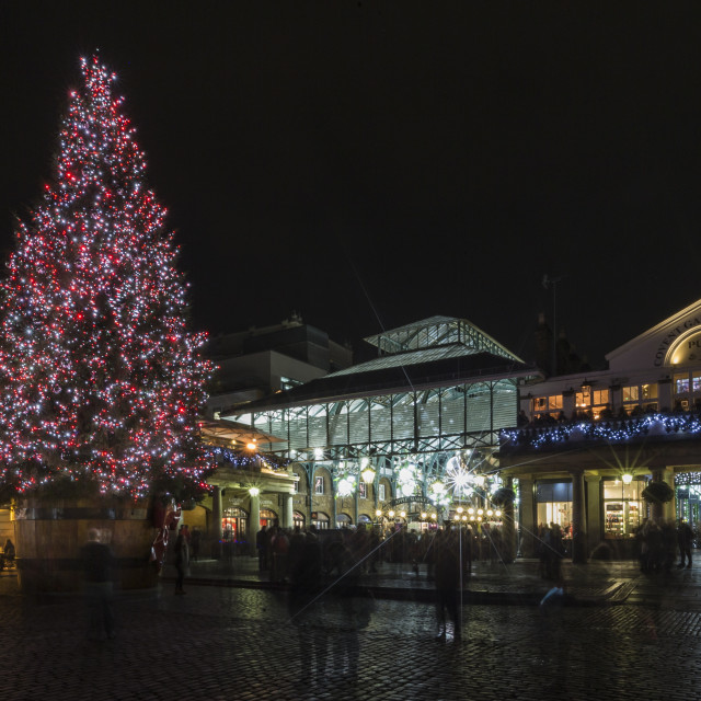 """""""Christmas In Covent Garden"""" stock image"""