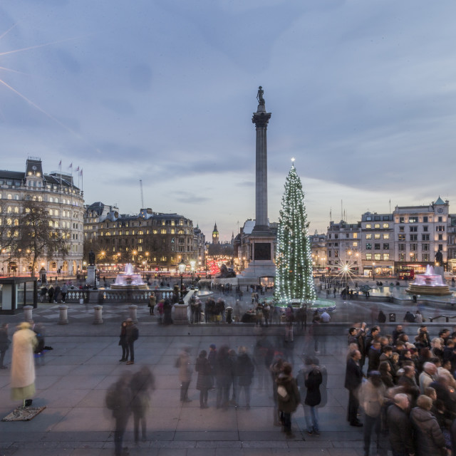 """Trafalgar At Christmas"" stock image"