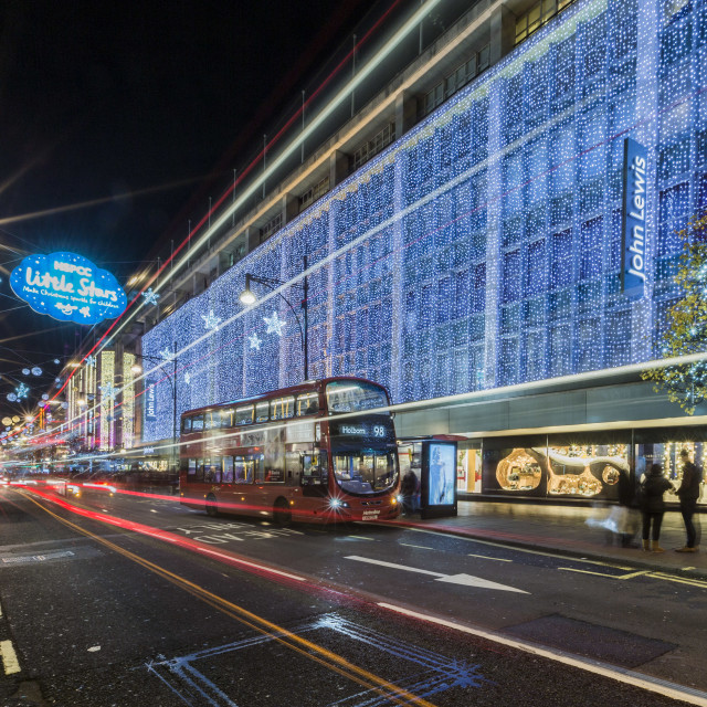 """Oxford Street at Christmas"" stock image"