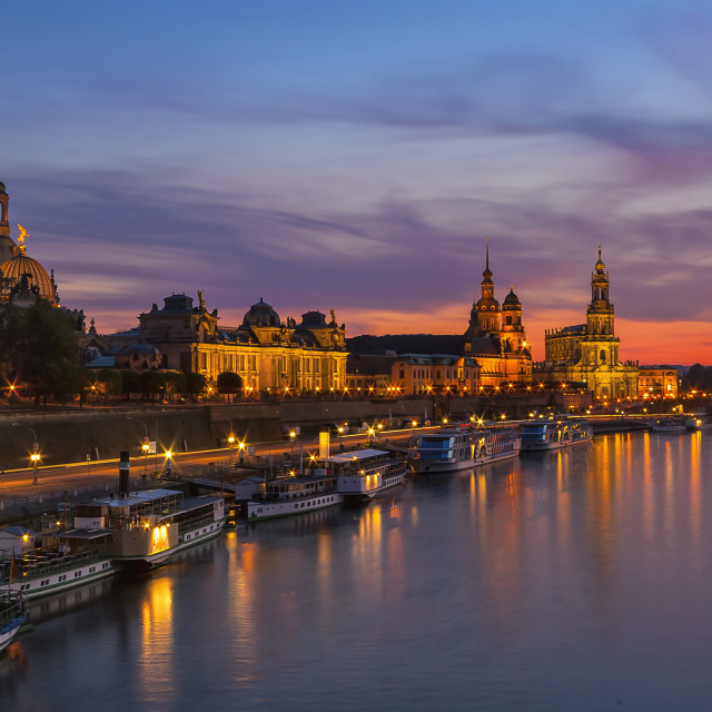 """Dresden After Sundown"" stock image"