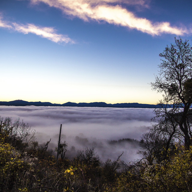 """Fucino Flats under the clouds"" stock image"