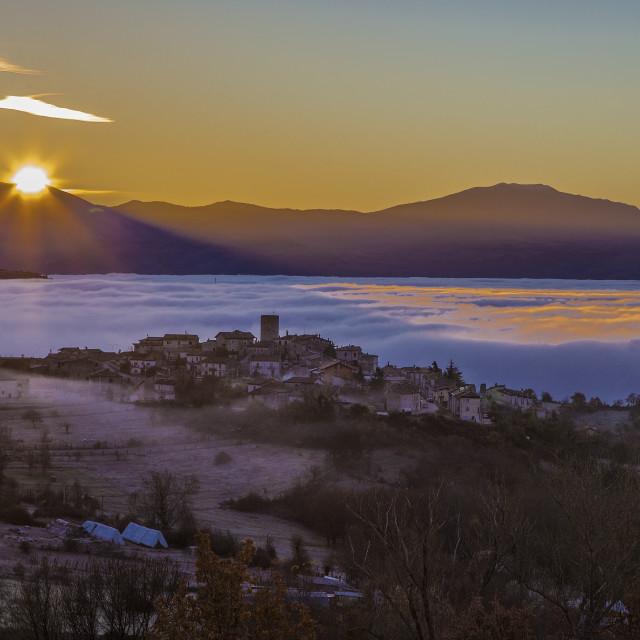"""Sunrise over S.Iona"" stock image"
