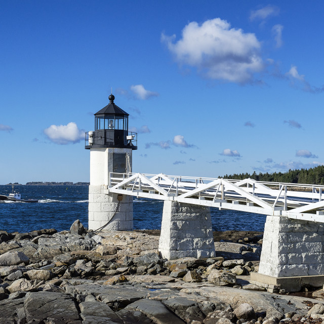 """""""Marshall Point Lighthouse, Port Clyde, Maine, USA"""" stock image"""
