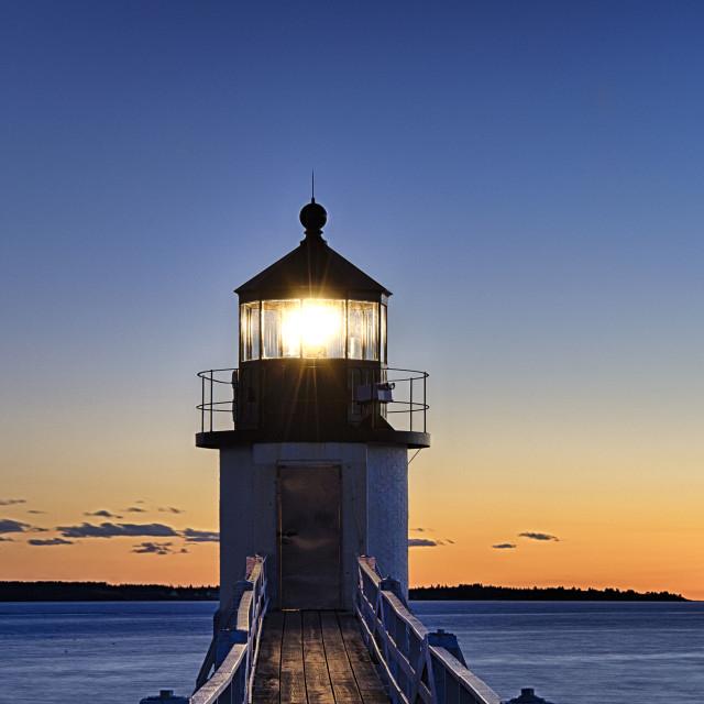 """Marshall Point Lighthouse."" stock image"