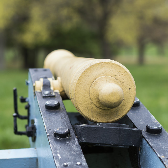 """Cannon at Valley Forge National Historic Park, Pennsylvania, USA"" stock image"