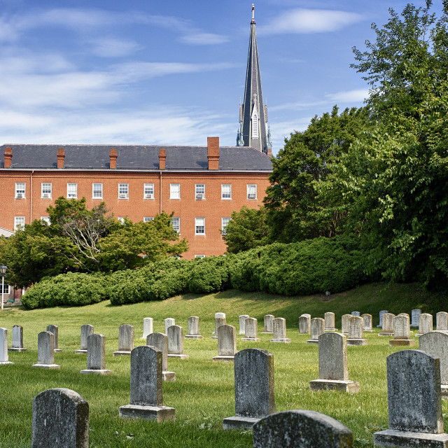 """St Mary's Catholic Church, Annapolis, Maryland, USA"" stock image"