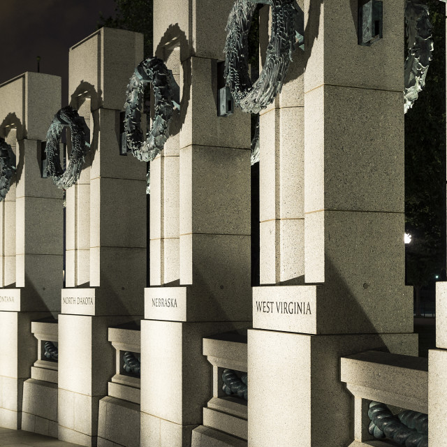 """The World War II Memorial, National Mall, Washington DC, USA"" stock image"