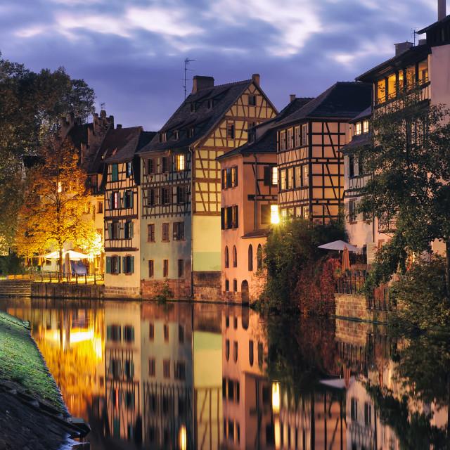 """""""Petite France in Strasbourg"""" stock image"""
