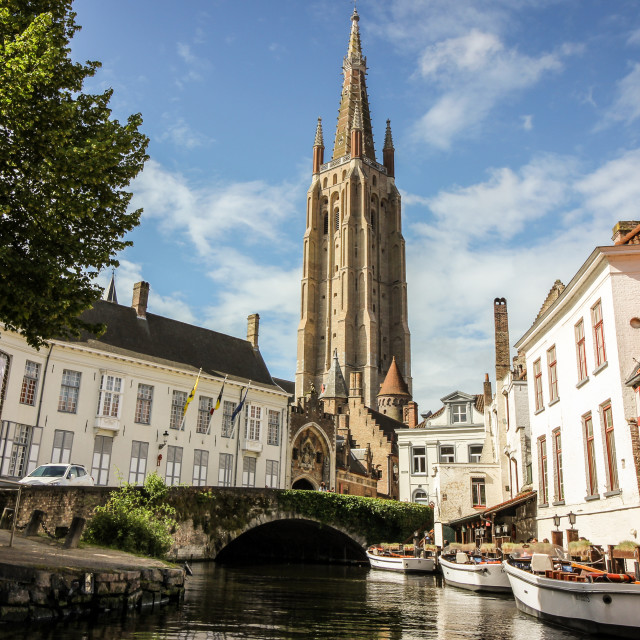 """Church of Our Lady Bruges"" stock image"