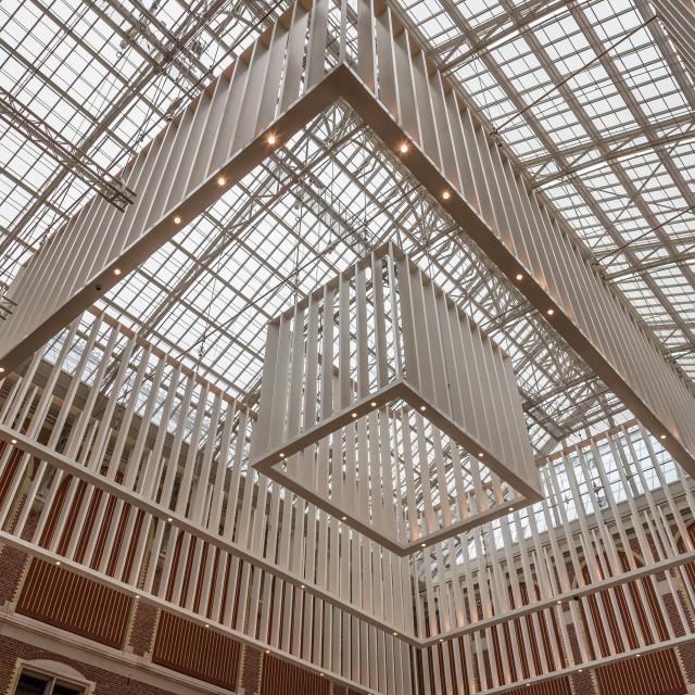 """Interior of Rijksmuseum in Amsterdam"" stock image"