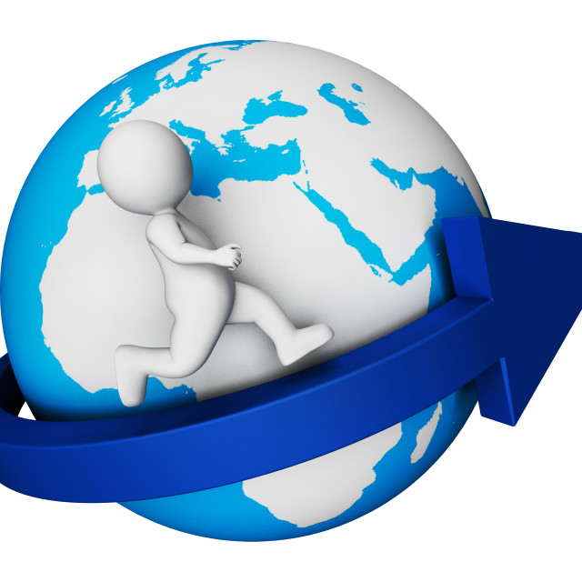 """Worldwide Globe Means Render Globally And Globalisation 3d Rendering"" stock image"