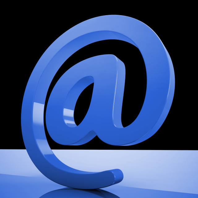 """""""At Sign Mean Email Correspondence on Web"""" stock image"""