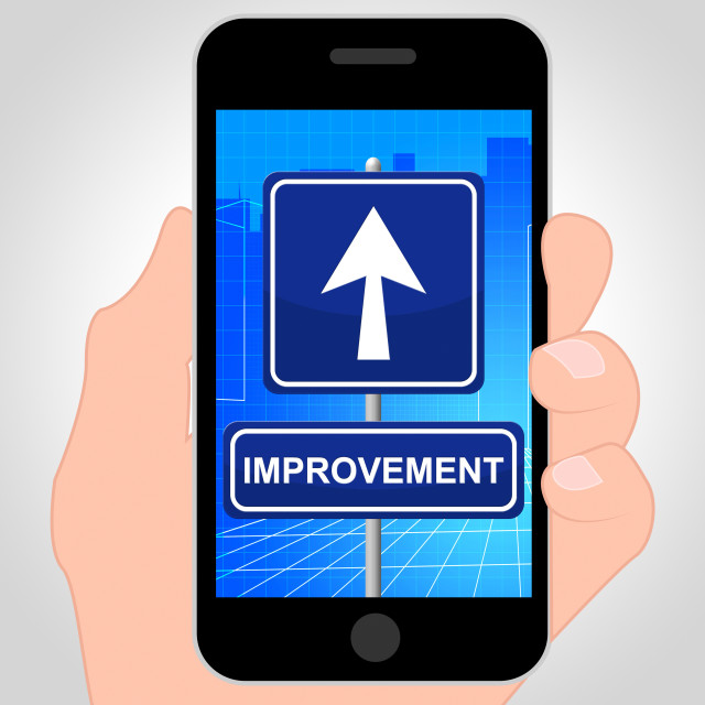 """""""Improvement Online Shows Evolve And Grow 3d Illustration"""" stock image"""