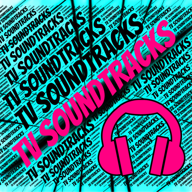 """""""Tv Soundtracks Shows Small Screen And Harmonies"""" stock image"""