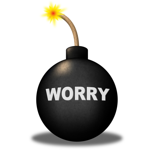 """""""Worry Alert Means Terror Safety And Anxiety"""" stock image"""