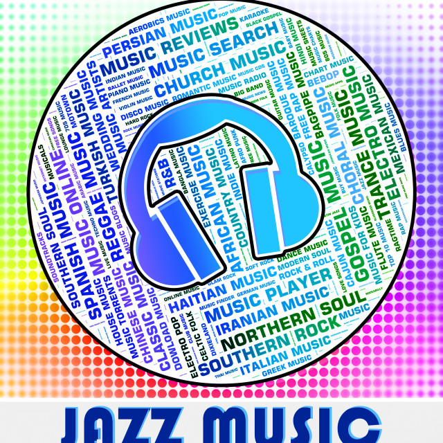 """""""Jazz Music Represents Sound Tracks And Band"""" stock image"""