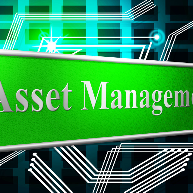 """""""Management Asset Represents Business Assets And Goods"""" stock image"""