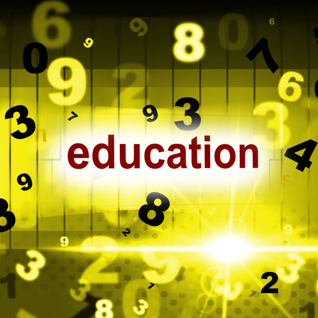"""Educate Education Indicates School College And Schooling"" stock image"