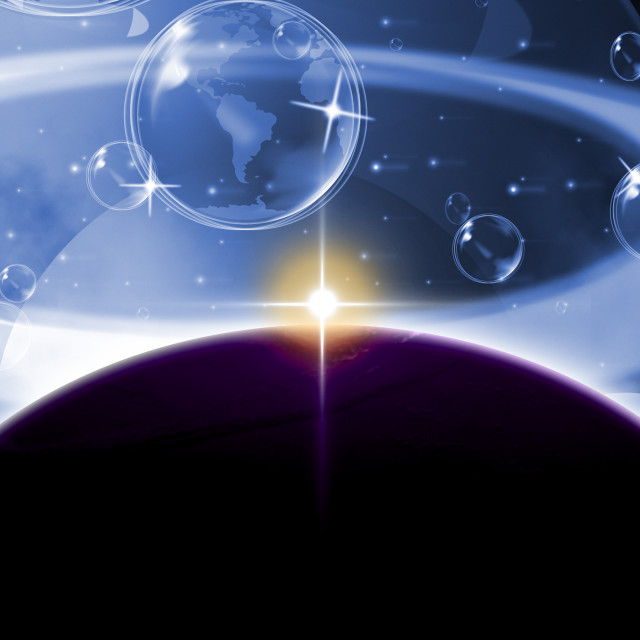 """Global Planets Represents Solar System And Globalisation"" stock image"