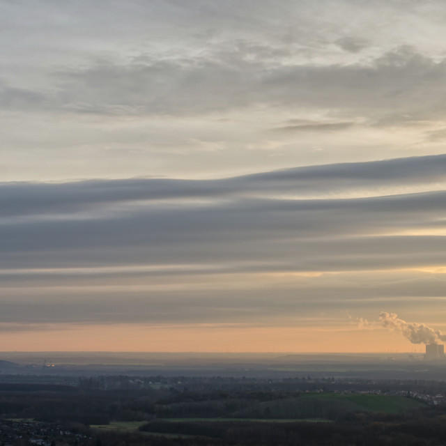 """Evening Sky Of Saxony"" stock image"