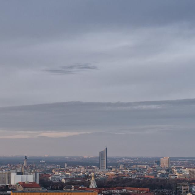 """Leipzig City Skyline"" stock image"