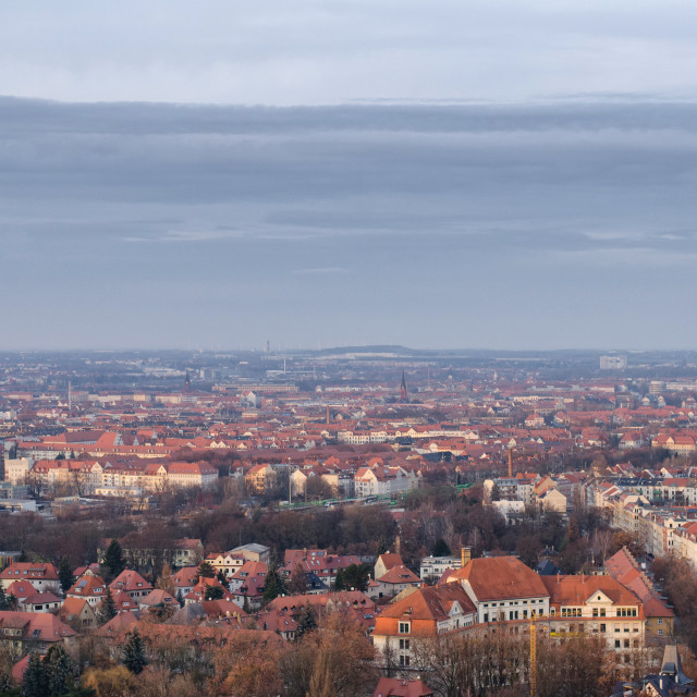 """""""Leipzig From Above"""" stock image"""