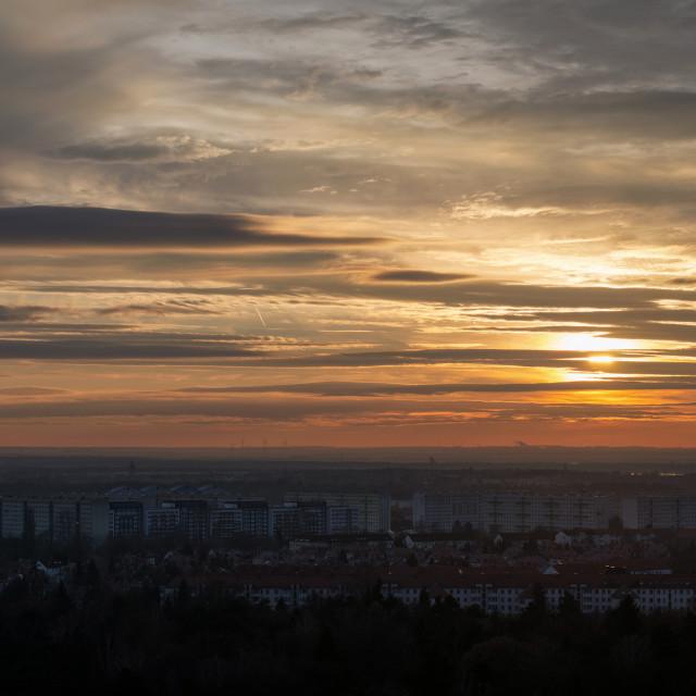"""""""Leipzig Sunset"""" stock image"""