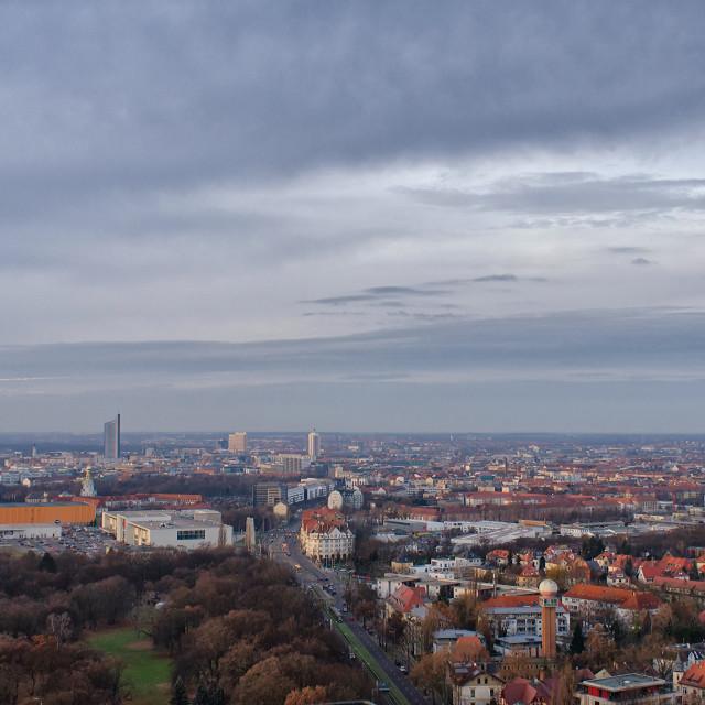 """Leipzig Skyline"" stock image"