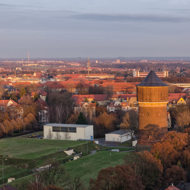 """""""Old Water Tower In Leipzig"""" stock image"""