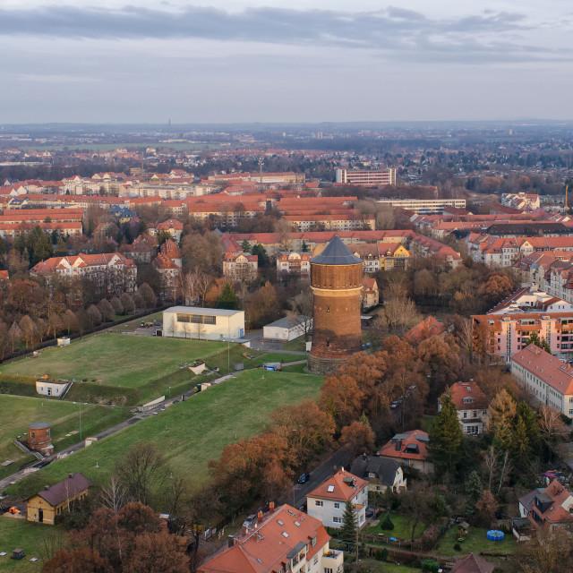 """Water Tower Probstheida in Leipzig"" stock image"