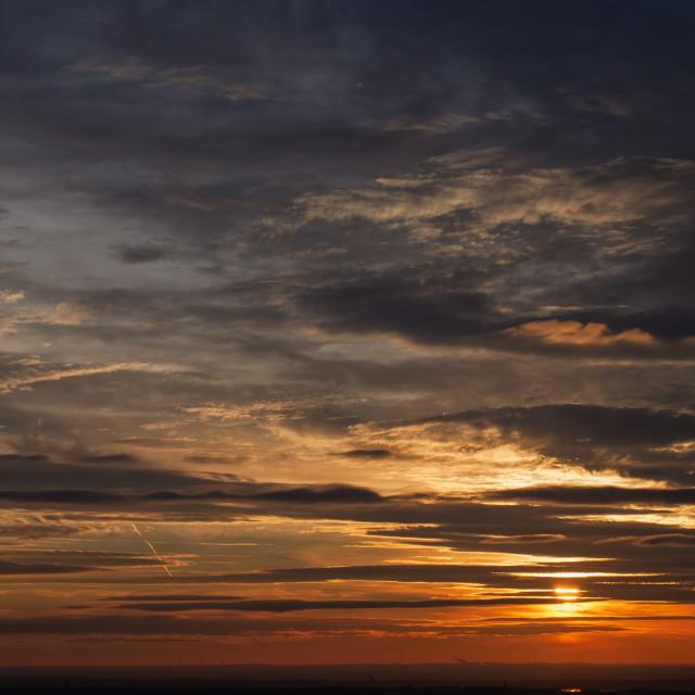 """""""Beautiful Evening Sky"""" stock image"""