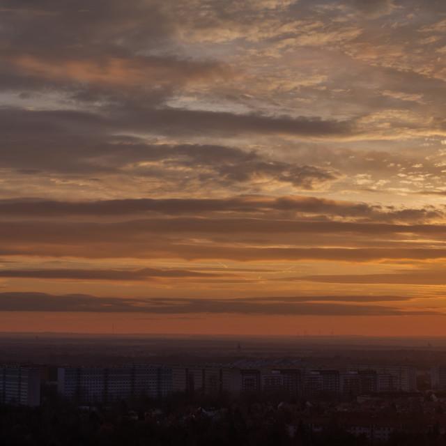 """""""Sunset Over Leipzig"""" stock image"""