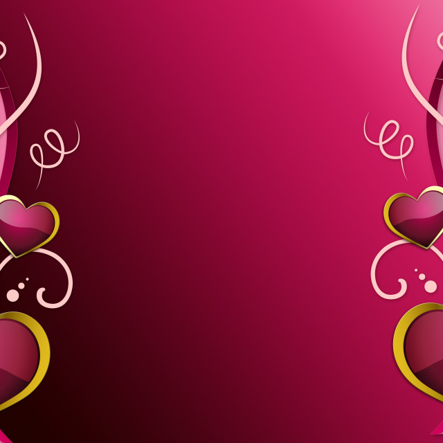 """Hearts Background Shows Romantic Wallpaper Or Passionate Love."" stock image"