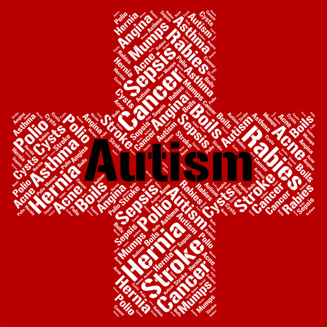 """""""Autism Word Represents Ill Health And Ailment"""" stock image"""