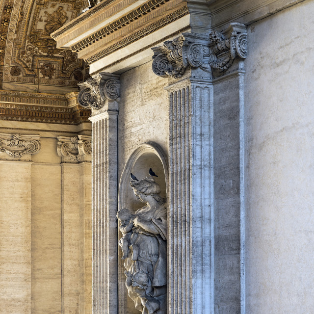 """""""Charity statue located in the portico of St Peter's Basilica, Vatican City, Rome, Italy"""" stock image"""