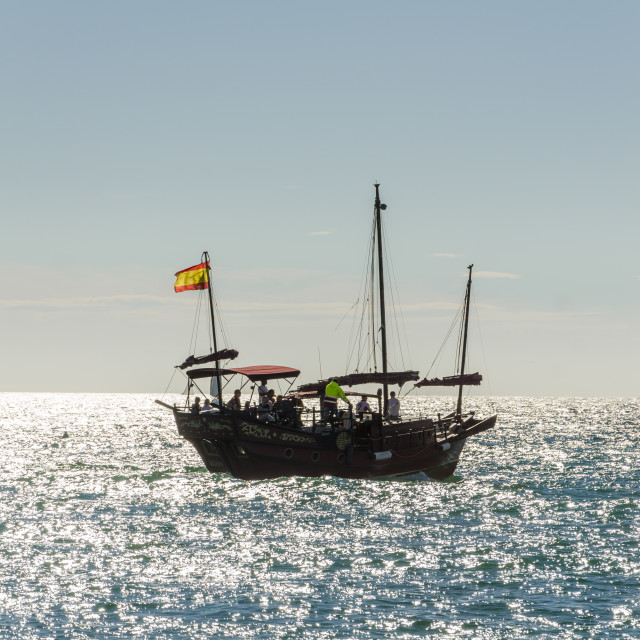 """""""Replica of an old Chinese junk"""" stock image"""