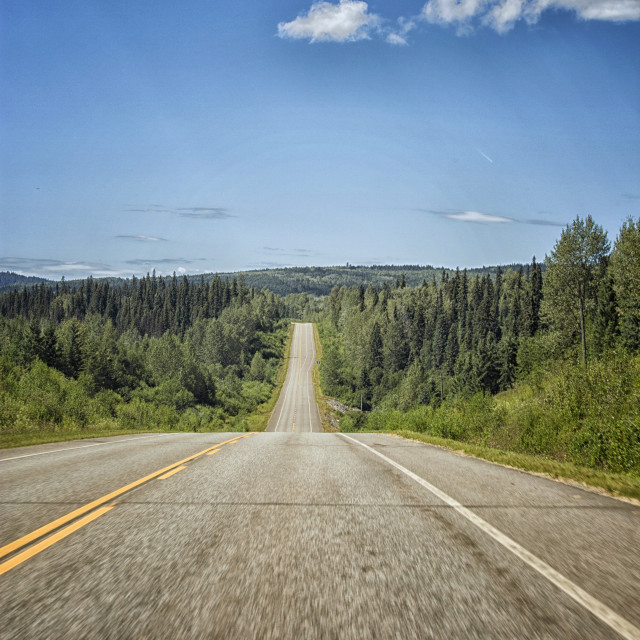 """Scenic road in Canada"" stock image"