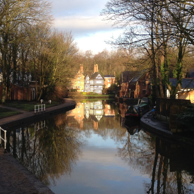 """Bridgewater Canal, Worsley"" stock image"