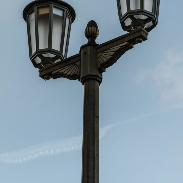 """Street lantern in the DDR."" stock image"