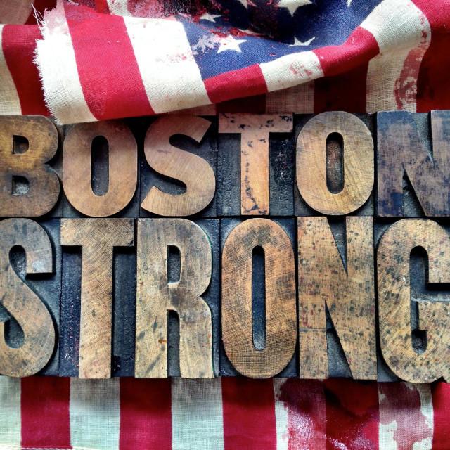 """Boston strong"" stock image"