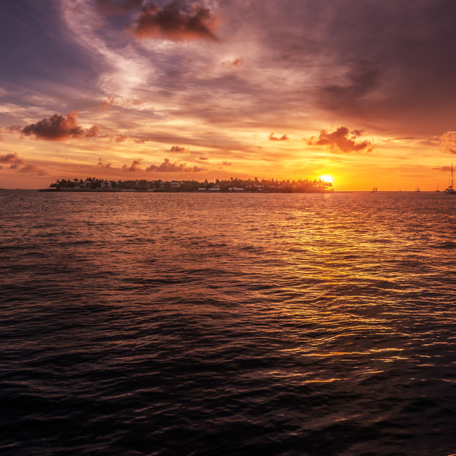 """Florida sunset"" stock image"